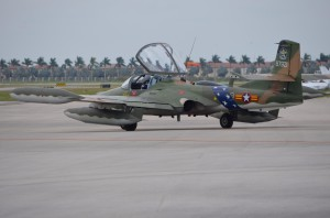 On the way out.  Power steering makes taxiing easy.